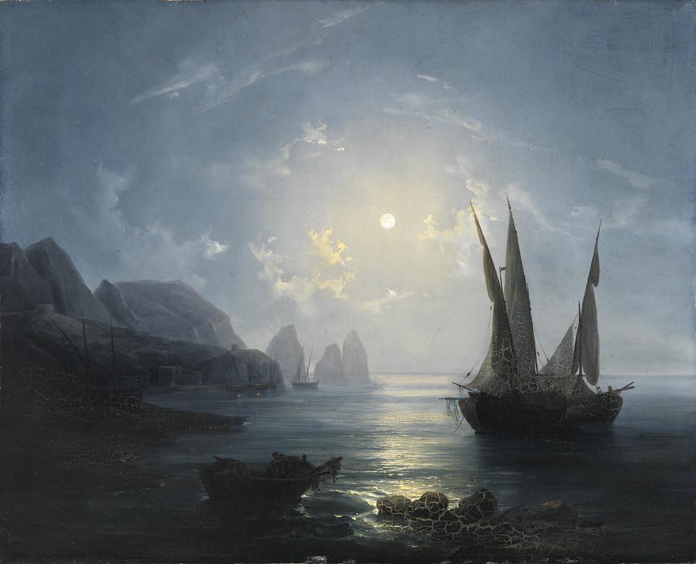 Salvatore Fergola, Notturno a Capri (1848; Napoli, Polo Museale della Campania – Certosa e Museo di San Martino)