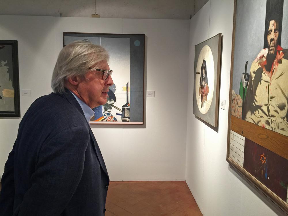 """A Seravezza una grande antologica su Gianfranco Ferroni. Sgarbi: """"un pittore che eleva la vita quotidiana attraverso l'arte"""""""