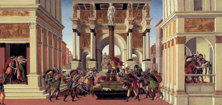 La Storia di Lucrezia e la Storia di Virginia romana di Botticelli di nuovo insieme a Bergamo
