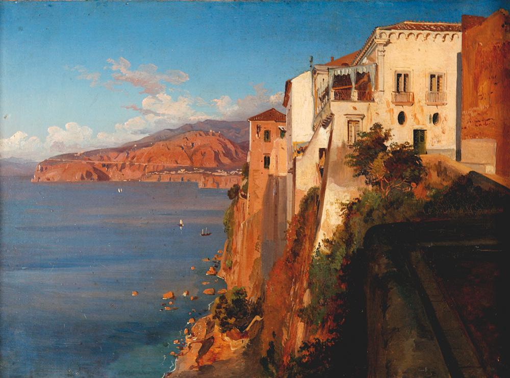 Thedore Duclère, La casa del Tasso a Sorrento (1860 circa; Sorrento, Museo Correale di Terranova)