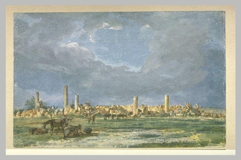 Jean Pierre Houël, Rovine del tempio grande di Selinunte