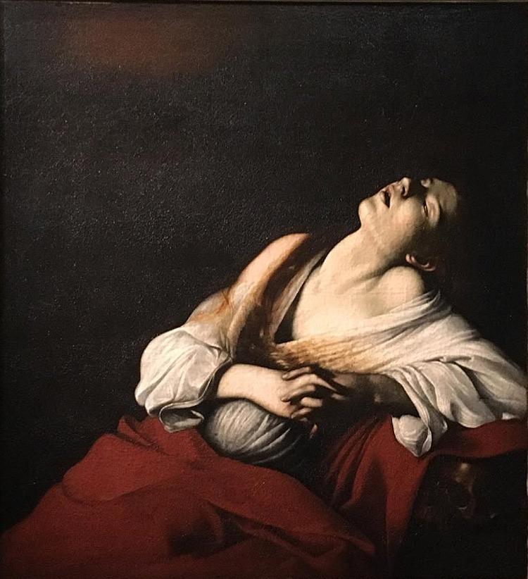 Caravaggio, Maddalena in estasi (post 1606; olio su tela, 103,5 x 91,5 cm; Olanda, collezione privata)