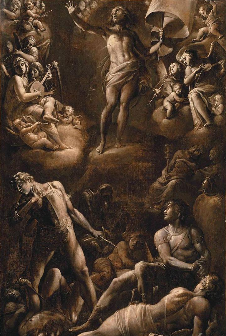Giovanni Baglione, La resurrezione di Cristo (1601-1603; olio su tela, 86 x 57 cm; Parigi, Louvre)