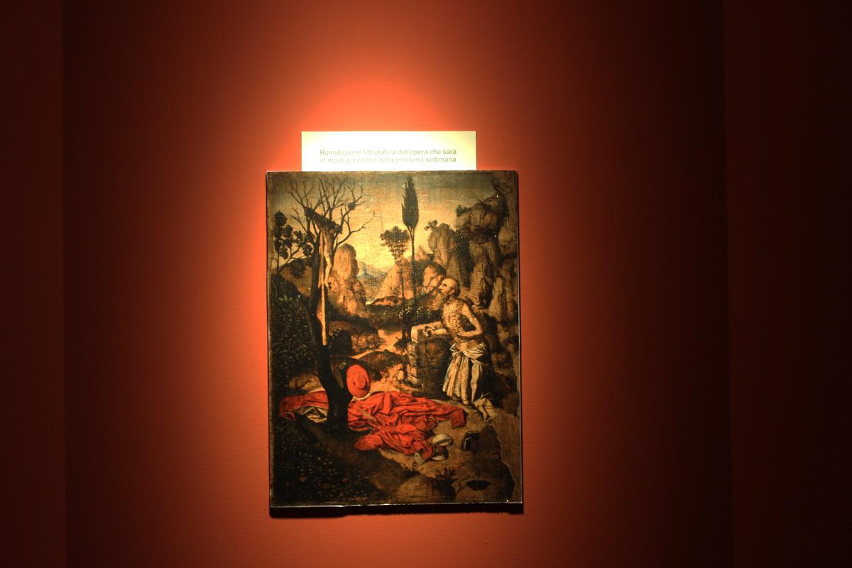 La fotografia dell'opera non arrivata alla mostra