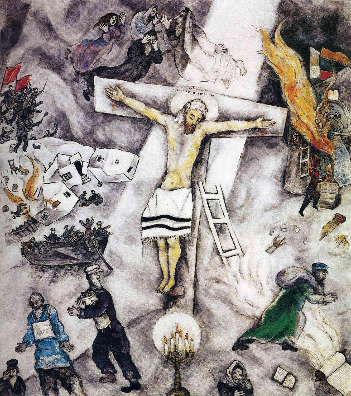 Marc Chagall, Crocifissione bianca (1938; olio su tela, 154,6 x 140 cm; Chicago, Art Institute)