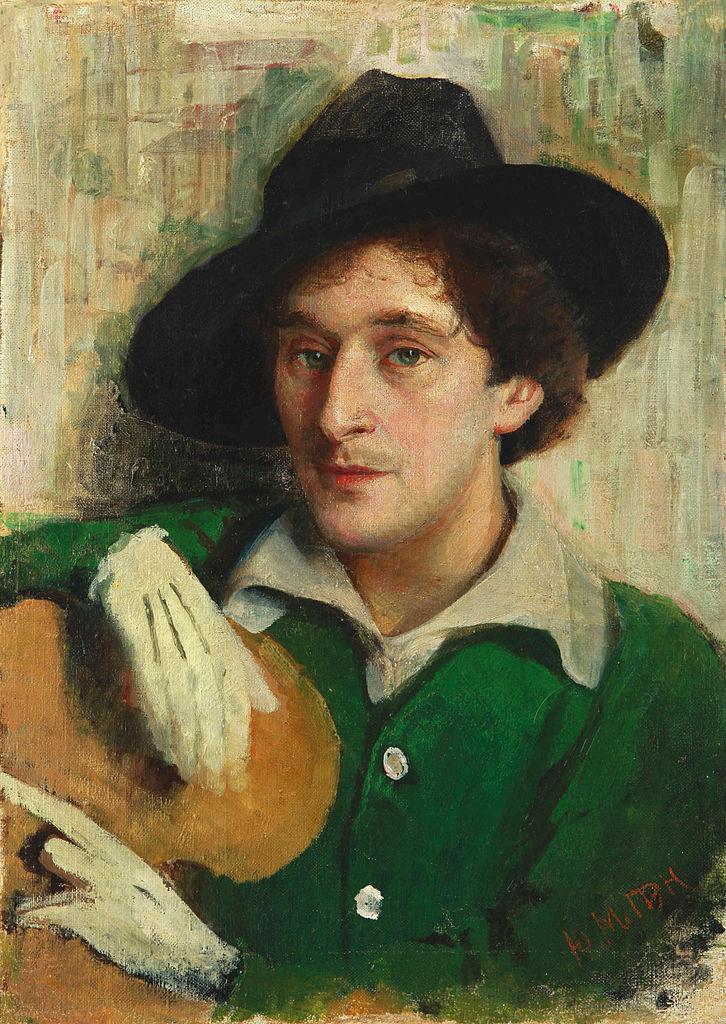 Yury (Yehuda) Pen, Ritratto di Marc Chagall (1914; olio su tela, 54 x 41 cm; Minsk, Museo Nazionale d