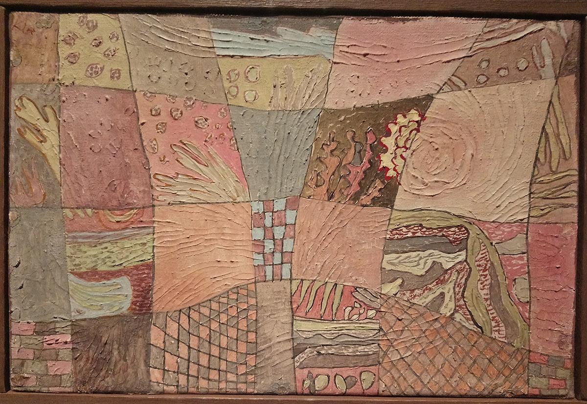 Paul Klee, Gartenrhythmus, Ritmo di giardino (1932; olio su tela preparata su cartone, cornice ricostruita, 19,5 × 28,5cm; Svizzera, Collezione privata, indeposito permanente al Zentrum Paul Klee, Berna)