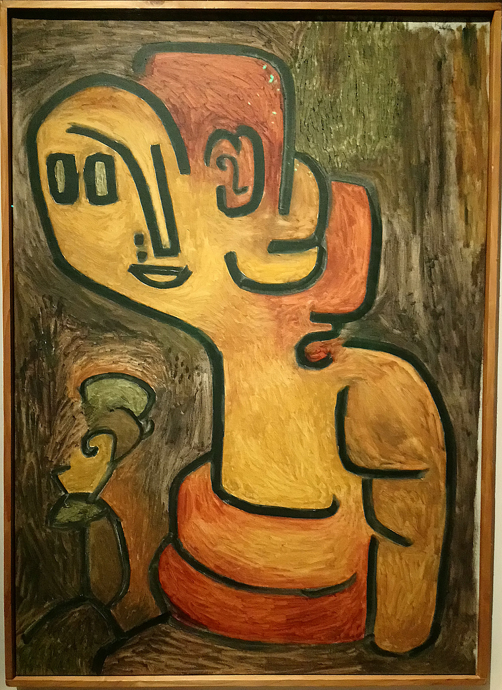 Paul Klee, Brustbild Gaia, Ritratto a mezzobusto di Gaia (1939; olio su imprimitura a olio sucotone, 97 × 69cm Svizzera, Collezione privata, indeposito permanente alZentrum Paul Klee, Berna)