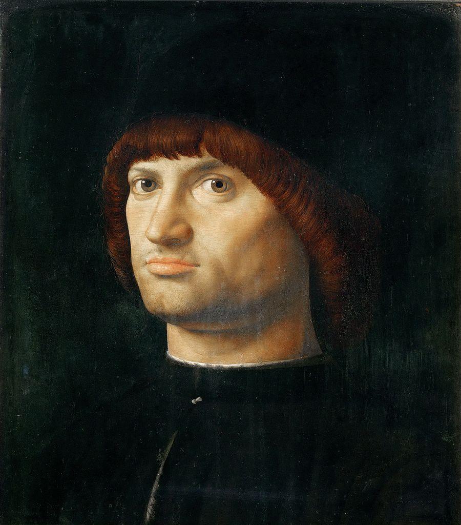Antonello da Messina, Ritratto d'uomo noto come Il condottiero (1475 circa; olio su tavola, 36 x 30 cm; Parigi, Louvre)