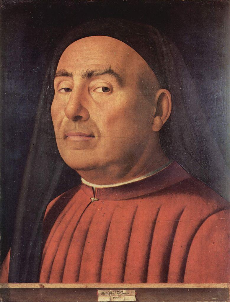 Antonello da Messina, Ritratto d'uomo noto come Ritratto Trivulzio (1476; olio su tavola, 37,4 x 29,5 cm; Torino, Museo Civico d'Arte Antica)