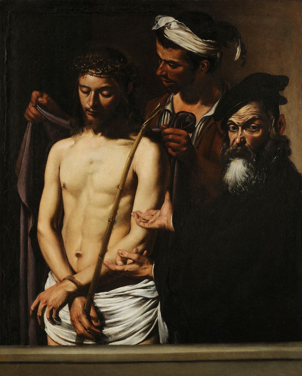 Caravaggio, Ecce Homo (1605-1610 circa; olio su tela, 128 x 103 cm; Genova, Musei di Strada Nuova - Palazzo Bianco)