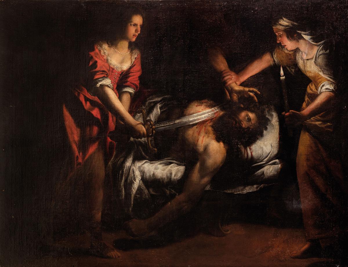 Domenico Fiasella, Giuditta e Oloferne (1620-1630 circa; olio su tela, 150 x 200 cm; Reggio Emilia, Collezione privata)