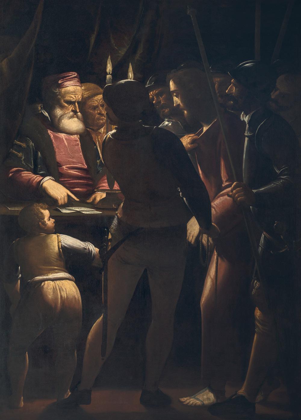 Luca Cambiaso, Cristo davanti a Caifa (1570-1575 circa; olio su tela, 188 x 138 cm; Genova, Museo dell'Accademia Ligustica di Belle Arti)