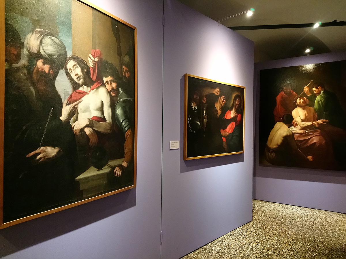 Immagini dalla mostra Caravaggio e i genovesi