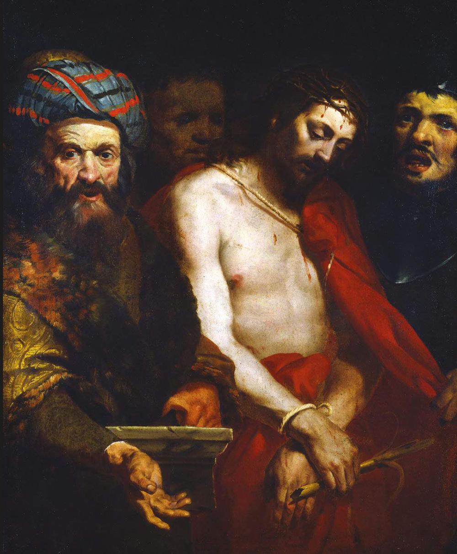 Orazio De Ferrari, Ecce Homo (1640 circa; olio su tela, 118 x 97 cm; Genova, Collezioni d'arte di Banca Carige)