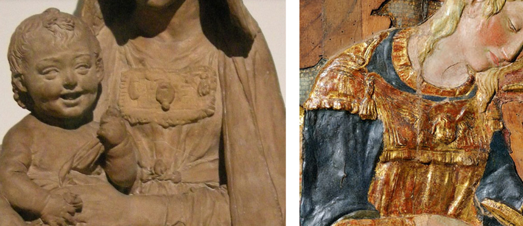 Confronto tra la Madonna del Victoria and Albert Museum e la Madonna dei Cordai di Donatello (Firenze, Museo Bardini)