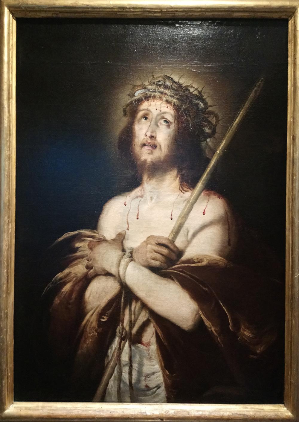 Bernardo Strozzi, Ecce Homo (1620-22; olio su tela, 105 x 75 cm; Genova, Galleria Nazionale di Palazzo Spinola)