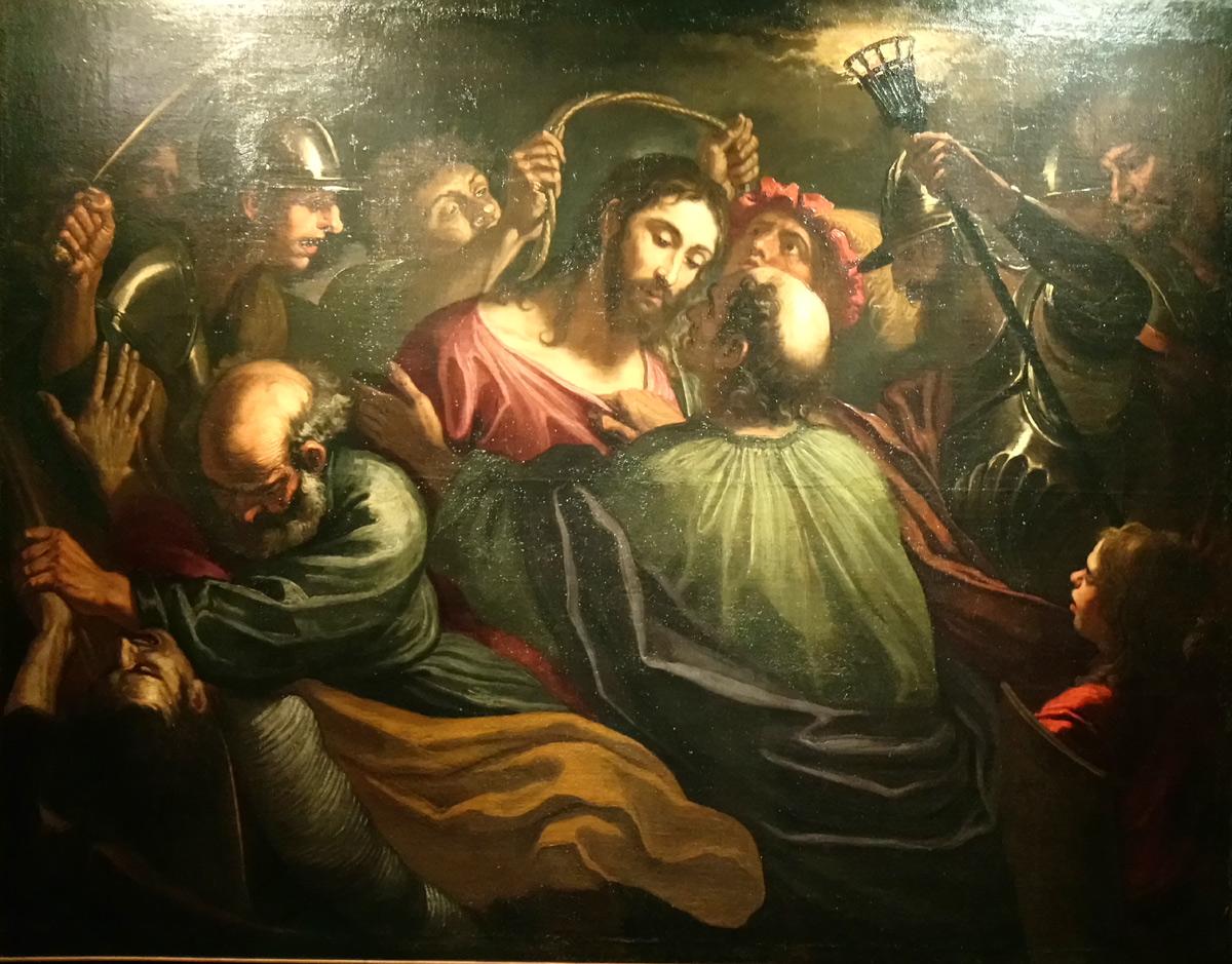 Giovanni Battista Merano, Cattura di Cristo (1655-1665 circa; olio su tela, 157 x 200 cm; Collezione privata)