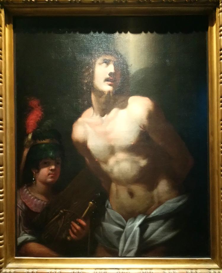 Giovanni Battista Paggi, Cristo alla colonna (1607; olio su tela, 106 x 85 cm; Milano, Collezione Koelliker)