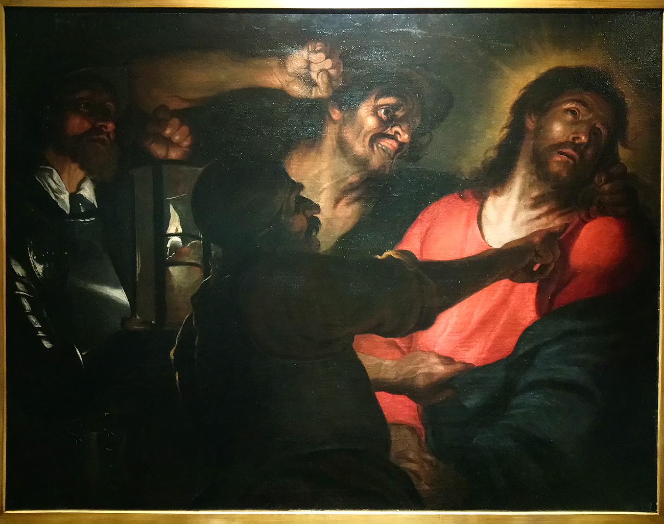 Giovanni Domenico Cappellino, Cristo deriso (1605-1610 circa; olio su tela, 128 x 103 cm; Genova, Musei di Strada Nuova, Palazzo Bianco)