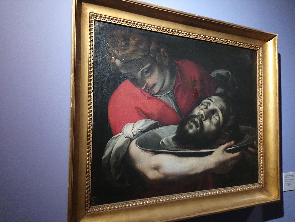 Simone Barabino, Testa del Battista (1615-1620 circa; olio su tela, 63,5 x 77 cm; Genova, Musei di Strada Nuova, Palazzo Bianco)