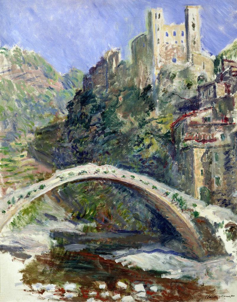 Claude Monet, Il Castello di Dolceacqua (1884; olio su tela, 92 x 73 cm; Parigi, Musée Marmottan Monet)