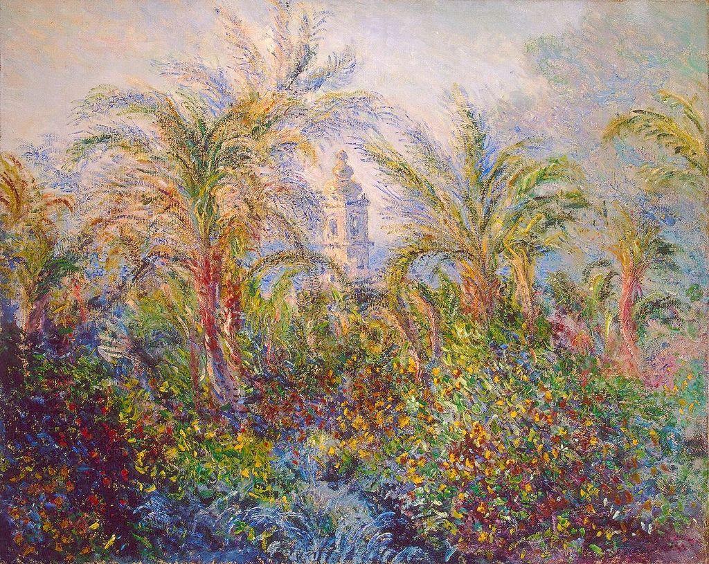 Claude Monet, Giardino a Bordighera (1884; olio su tela, 65,5 x 81,5 cm; San Pietroburgo, Hermitage)