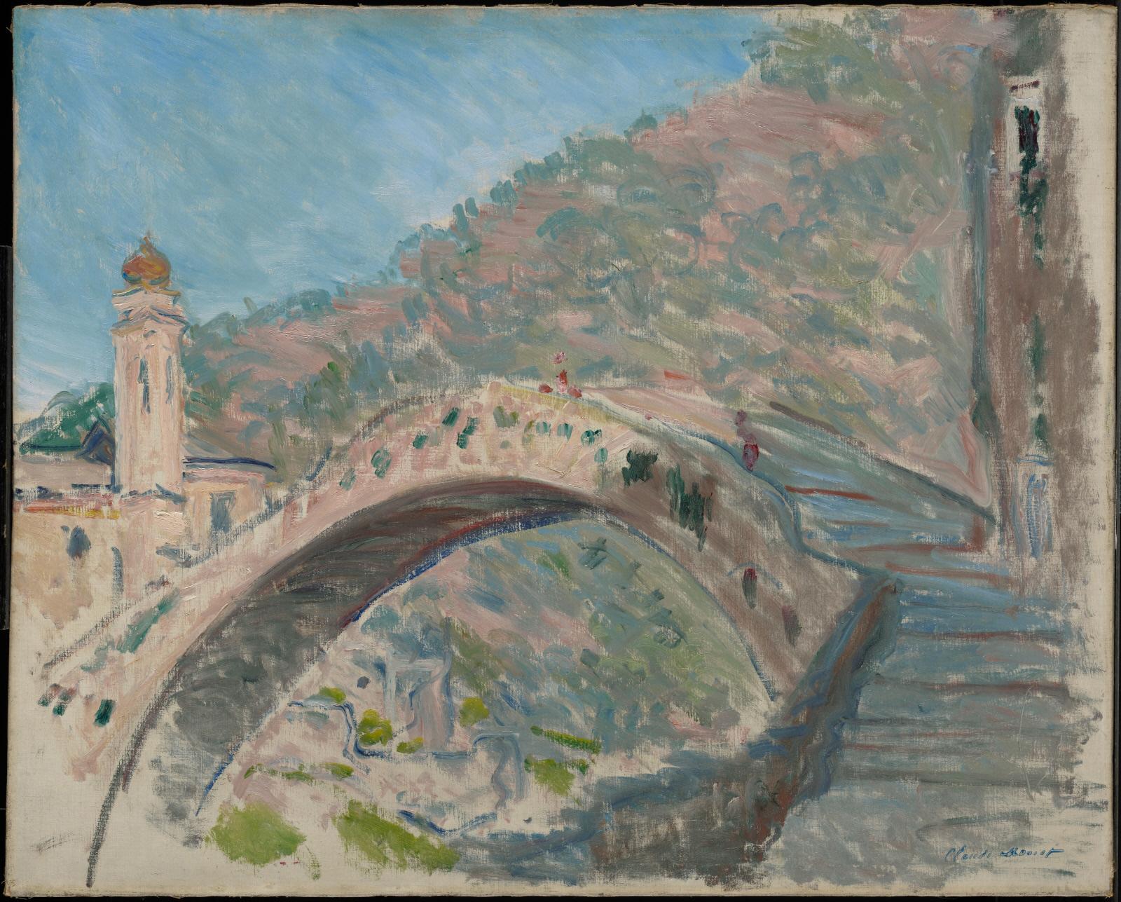 Claude Monet, L'Antico ponte sul Nervia a Dolceacqua (1884; olio su tela, 65 x 81 cm; Williamstwon, Sterling & Francine Clark Art Institute)