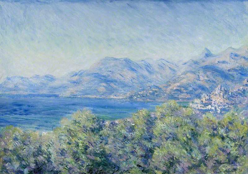 Claude Monet, Veduta di Ventimiglia (1884; olio su tela, 65,1 x 91,7 cm; Glasgow, Kelvingrove Art Gallery and Museum)