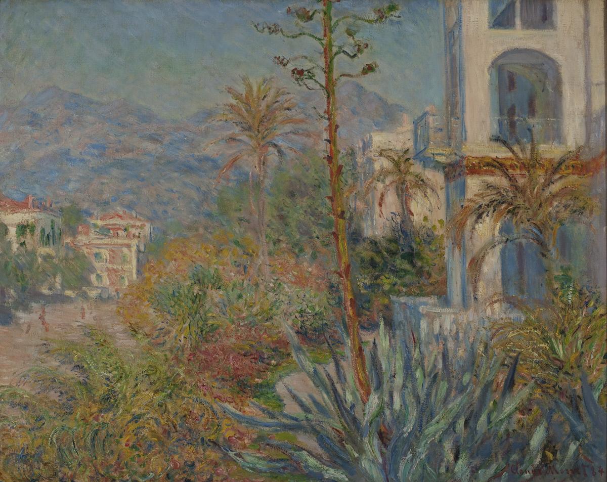 Claude Monet, Ville a Bordighera (1884; olio su tela, 73 x 91 cm; Santa Barbara, Santa Barbara Museum of Art Museum)
