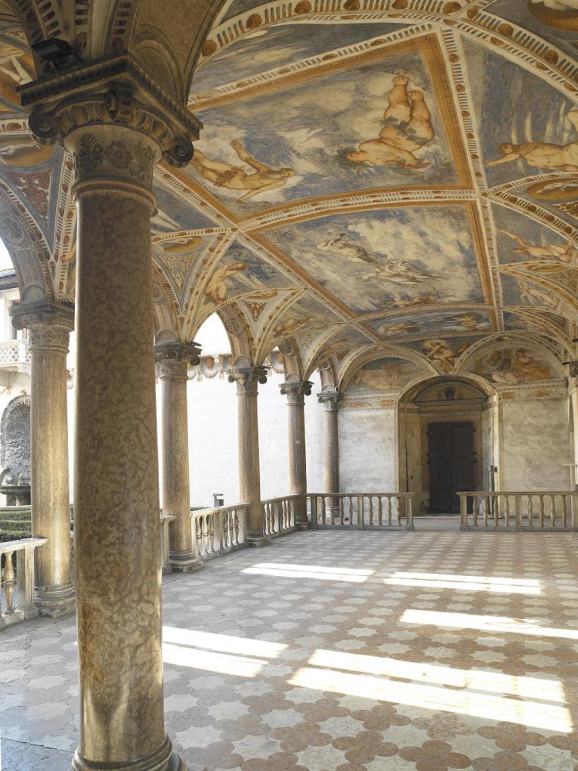La Loggia del Romanino, dettaglio