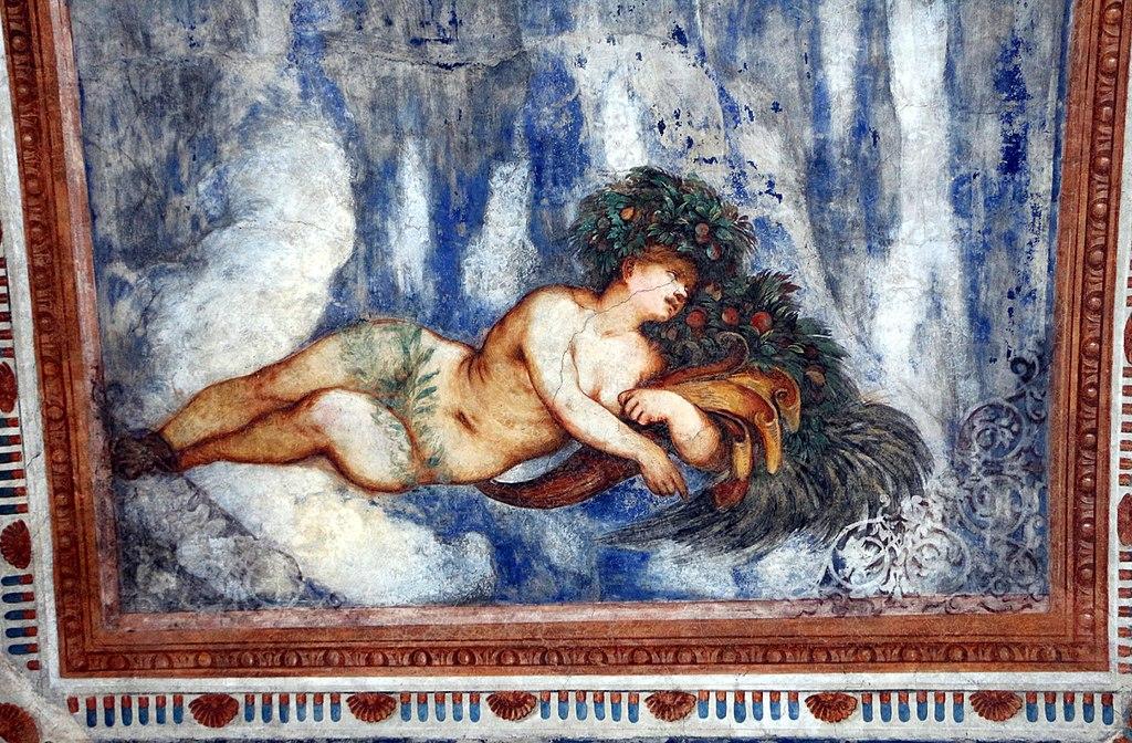 Loggia del Romanino, dettaglio: allegoria dell'Estate. Ph. Credit Francesco Bini