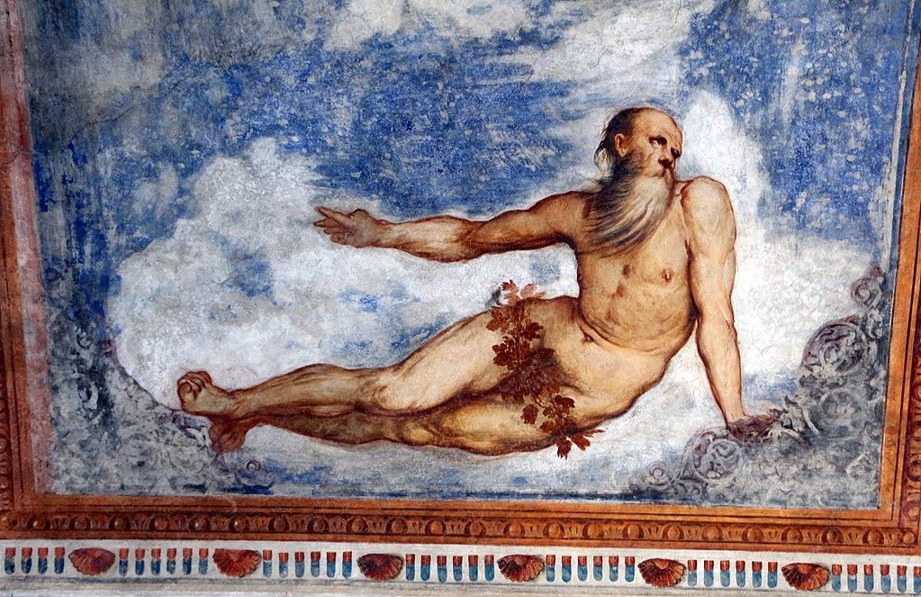Loggia del Romanino, dettaglio: allegoria dell'Inverno. Ph. Credit Francesco Bini