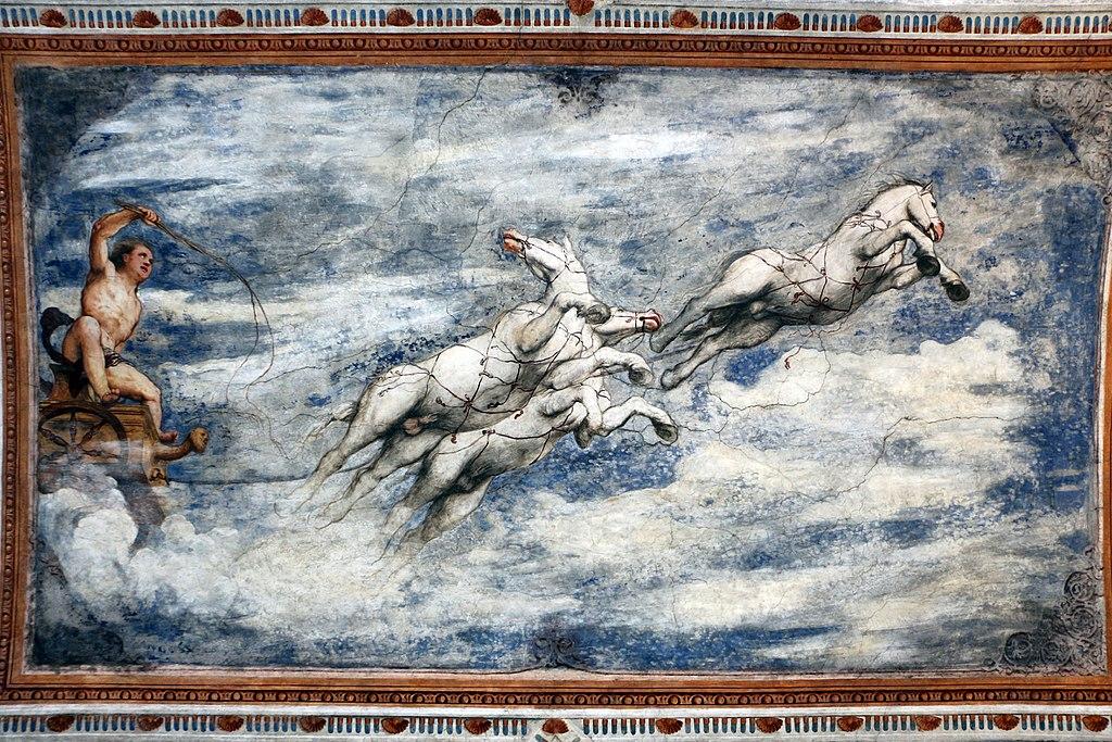 Loggia del Romanino, dettaglio: la caduta di Fetonte. Ph. Credit Francesco Bini