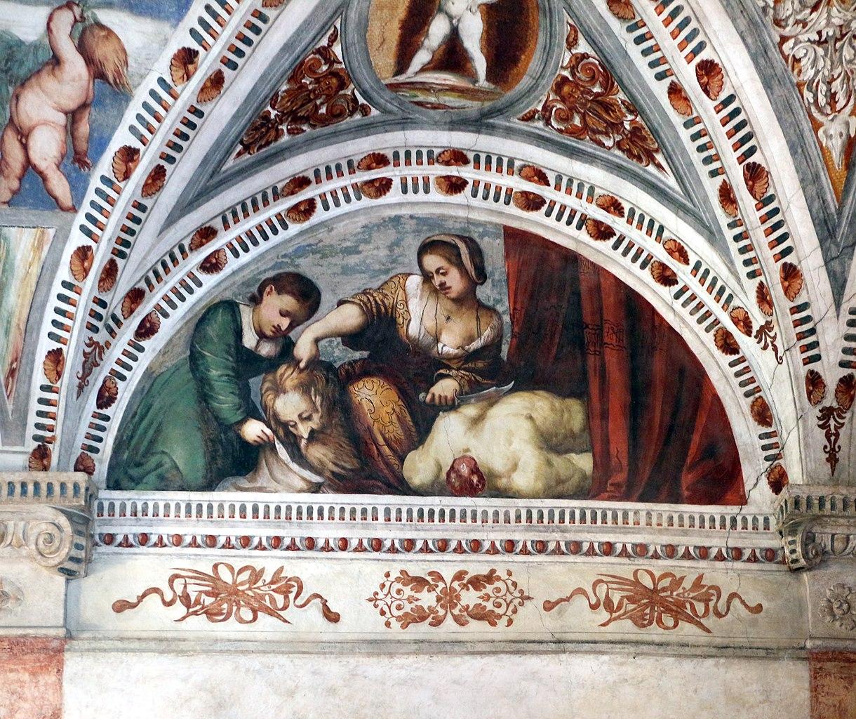 Loggia del Romanino, dettaglio: Giuditta e Oloferne. Ph. Credit Francesco Bini