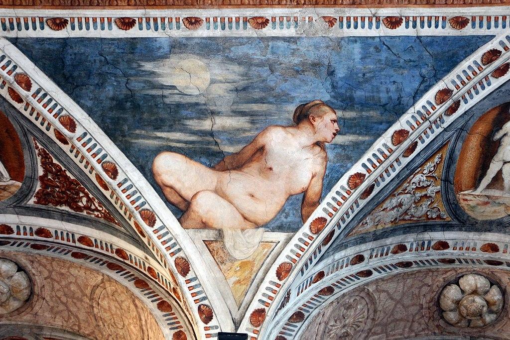 Loggia del Romanino, dettaglio: allegoria della Luna. Ph. Credit Francesco Bini