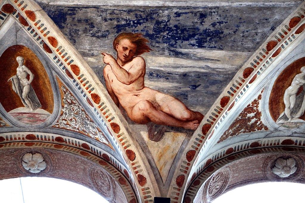 Loggia del Romanino, dettaglio: nudo. Ph. Credit Francesco Bini