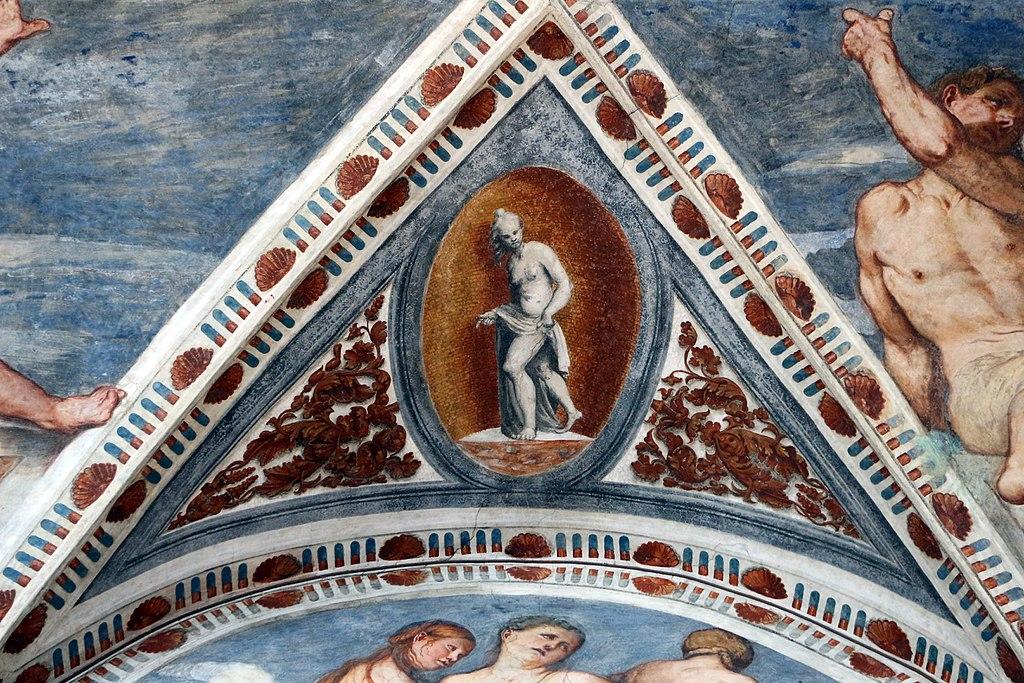Loggia del Romanino, dettaglio: nudo monocromo. Ph. Credit Francesco Bini