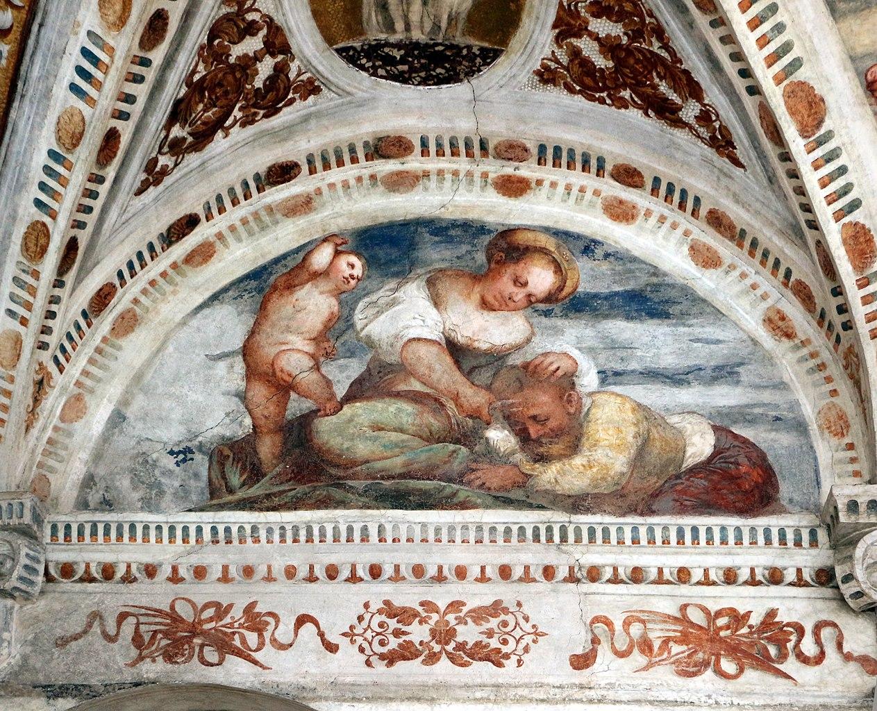 Loggia del Romanino, dettaglio: Sansone e Dalila. Ph. Credit Francesco Bini