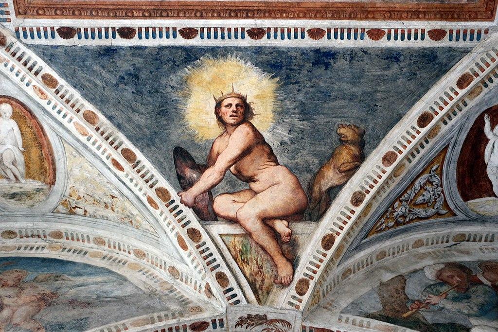 Loggia del Romanino, dettaglio: allegoria del Sole. Ph. Credit Francesco Bini