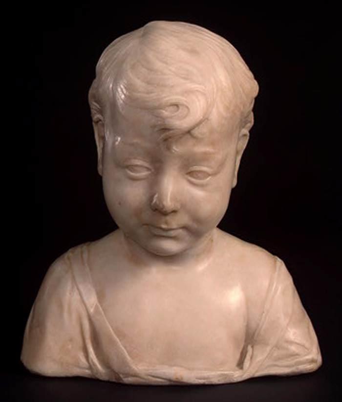 Desiderio da Settignano, Bambino (1455-1460 circa; marmo, 30,5 x 26,5 x 16,3 cm; Washington, National Gallery of Art, Samuel H. Kress Collection, 1943.4.94)