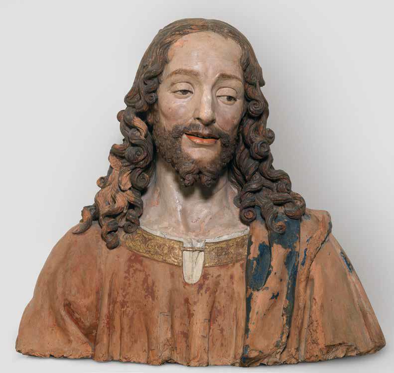 Pietro Torrigiani, Cristo salvatore (1492-1495 circa; terracotta dipinta, 54 x 60 x 33 cm; Firenze, Monastero di Santa Trìnita)
