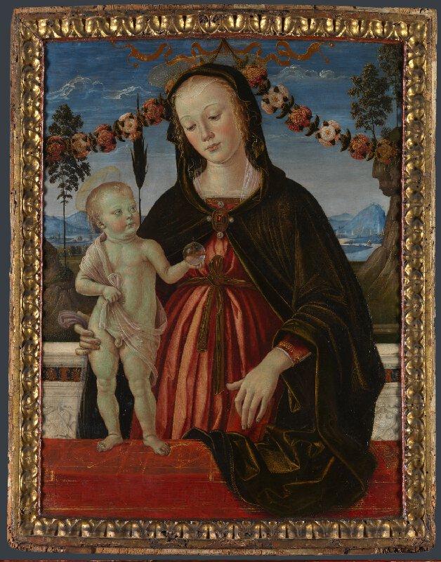 Pinturicchio, Madonna col Bambino (1475 circa; tempera su tavola, 48,3 x 36,8 cm; Londra, The National Gallery, inv. NG2483)