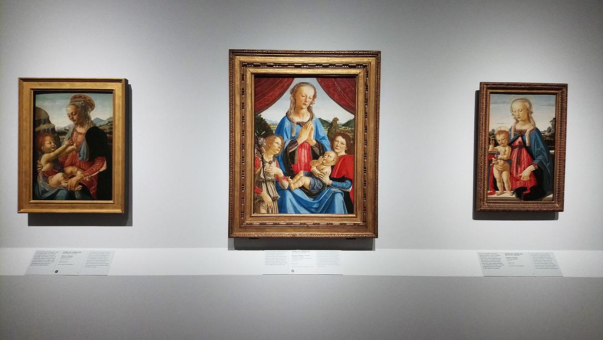 Una sala della mostra Verrocchio. Il maestro di Leonardo