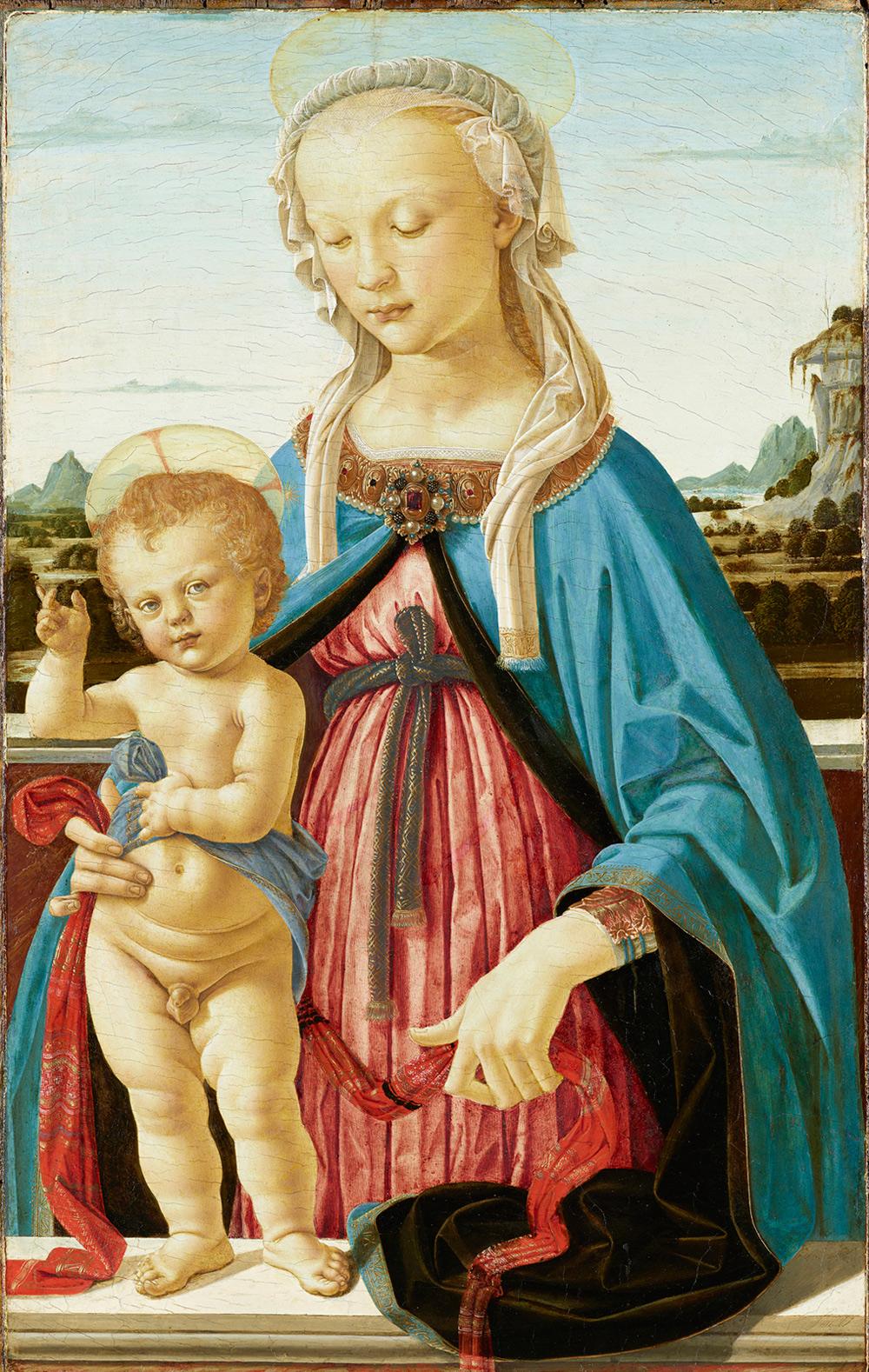 Andrea del Verrocchio, Madonna col Bambino (1470 circa; tempera su tavola, 75,8 x 47,9 cm; Berlino, Staatliche Museen zu Berlin, Gemäldegalerie, inv. 10)