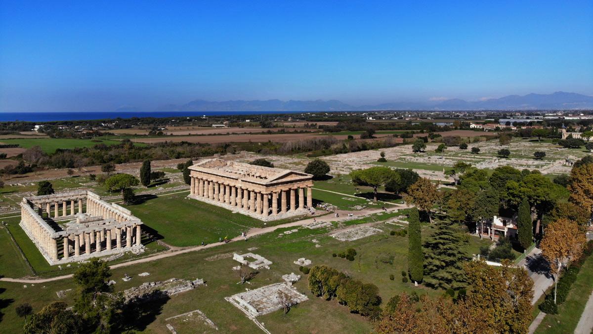 Paestum dall'alto