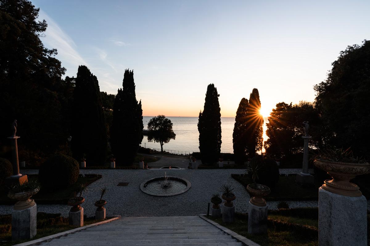 Il Parco di Miranare al tramonto. Ph. Credit Fabrice Gallina – archivio PromoTurismoFVG