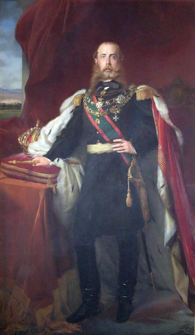 Santiago Rebull, Ritratto di Massimiliano come imperatore del Messico (1865; olio su tela; Trieste, Museo Storico del castello di Miramare)