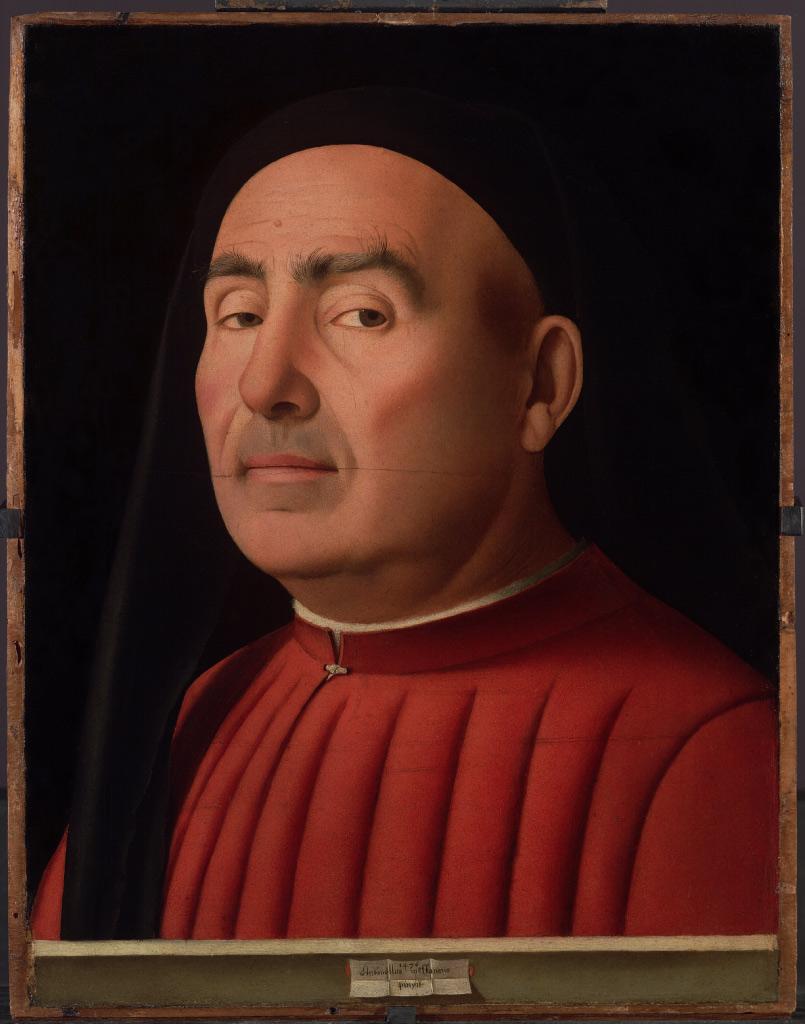 Antonello da Messina, Ritratto d'uomo noto come Ritratto Trivulzio (1476; olio su tavola, 37,4 x 29,5 cm; Torino, Museo Civico di Palazzo Madama)