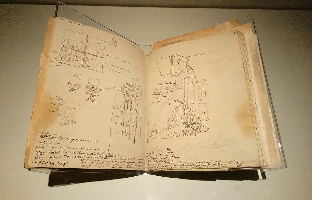 Giovanni Battista Cavalcaselle, Foglio dedicato al San Girolamo nello studio